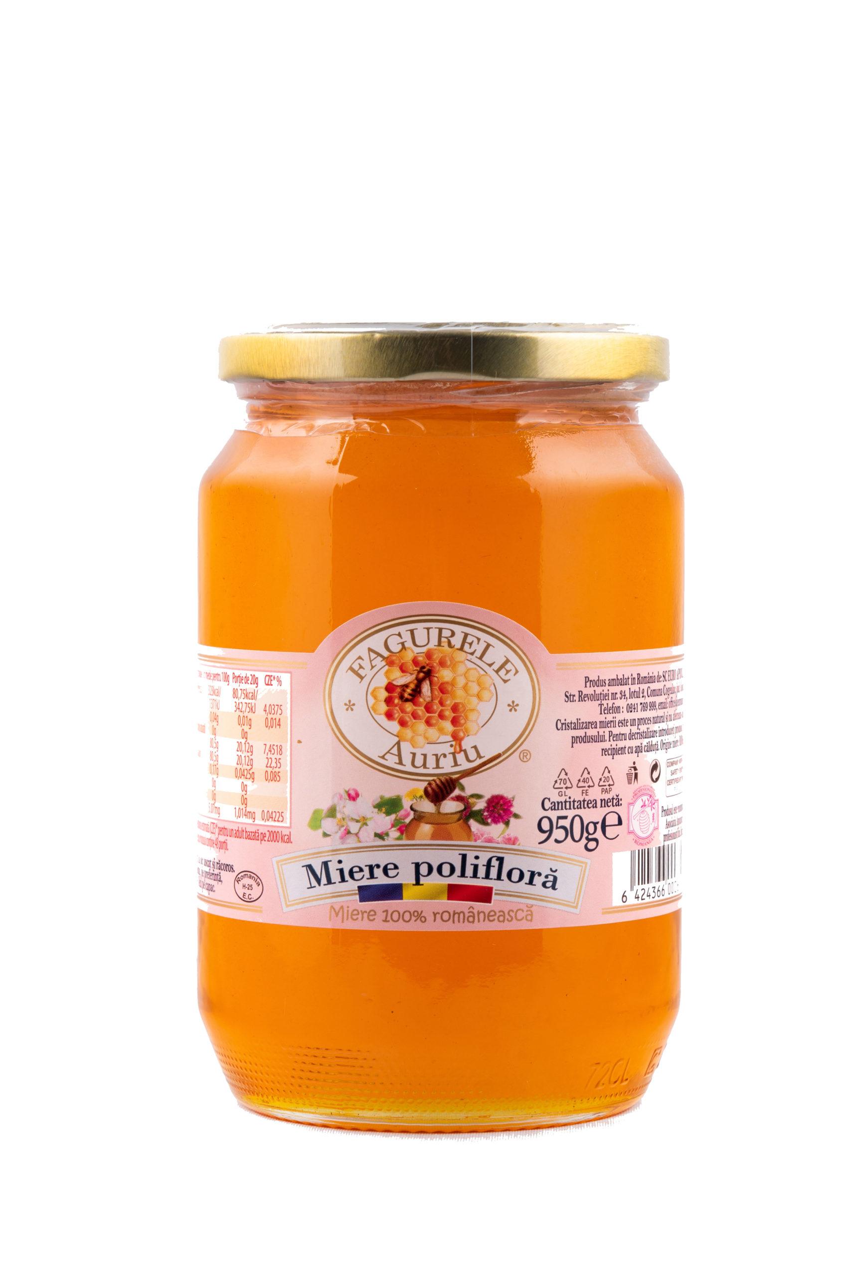 Miere poliflora Fagurele Auriu 950 g este recomandată în special copiilor și vârstnicilor, având o mulțime de efecte benefice sănătății.