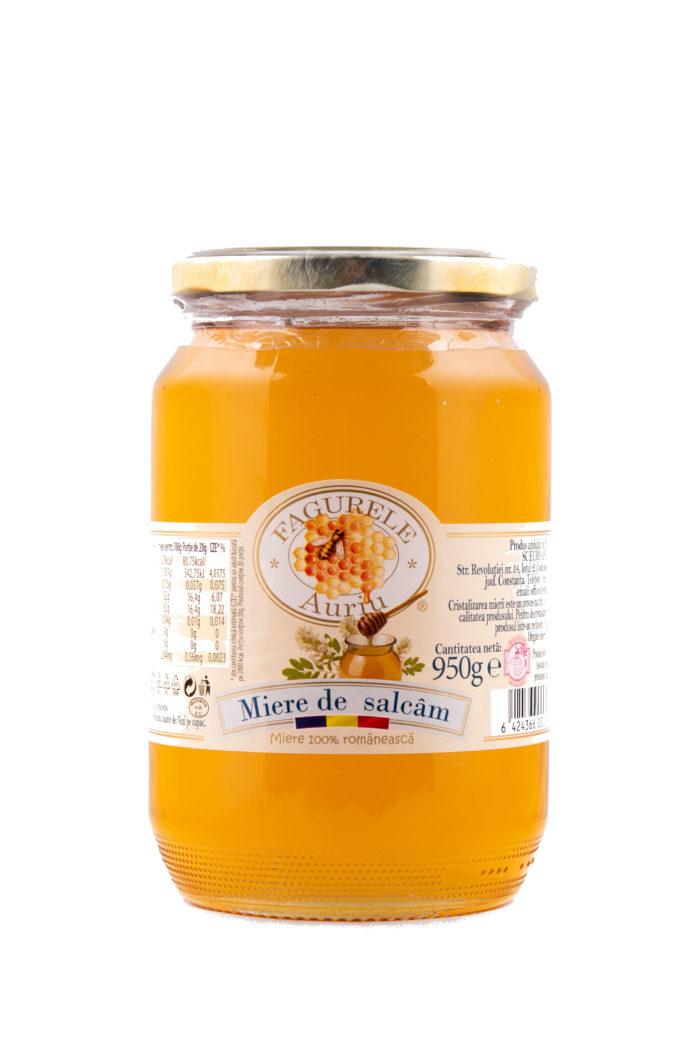 Miere salcam Fagurele Auriu 950g - Calmează tusea, având proprietăți antiseptice; Combate oboseala; Înlătură astenia și nevrozele;