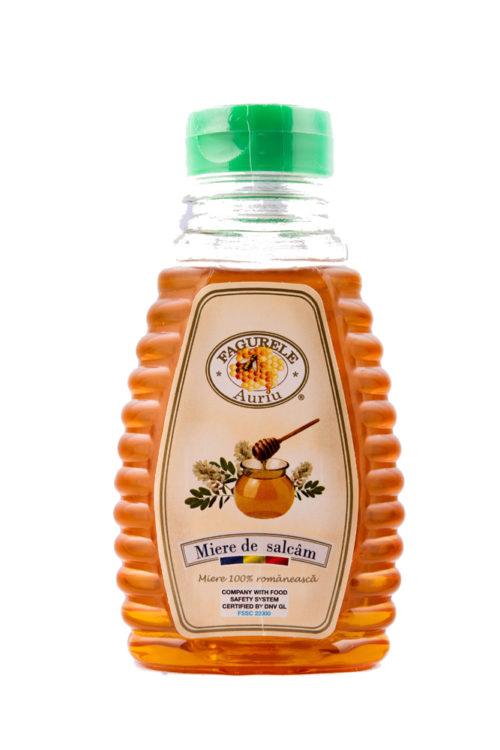 Miere salcam Fagurele Auriu PET 400 g - Calmează tusea, având proprietăți antiseptice; Combate oboseala; Înlătură astenia și nevrozele;