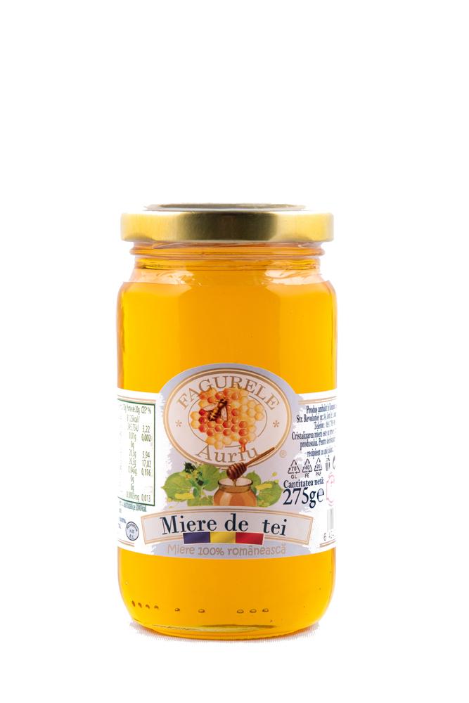 Miere tei Fagurele Auriu 275 g este foarte bogată în vitamine, mai ales cele din complexul B, aminoacizi, antixodanți, polen și mană.