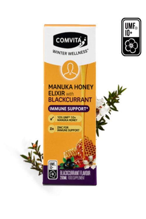 Elixir Coacaze & Miere Manuka UMF®10+ 200ml. O formula all-in-one care sustine sistemul imunitar in sezonul rece.