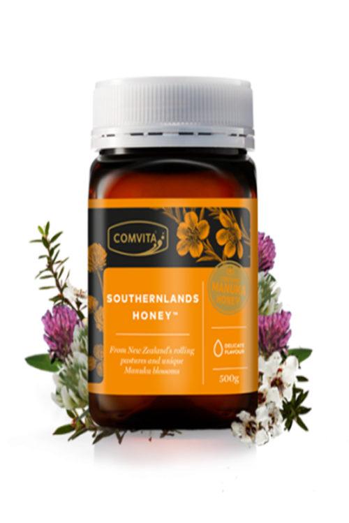 Miere Southernlands 25% miere Manuka. Este minunata la gust si poate fi folosita cu succes in iaurturi, cereale, fructe.