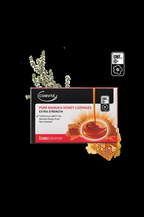 Dropsuri de gat cu 100% Miere de Manuka pura UMF 10+ Comvita 8 buc. Calmeaza durerile de gat. Dropsurile nu contin zahar