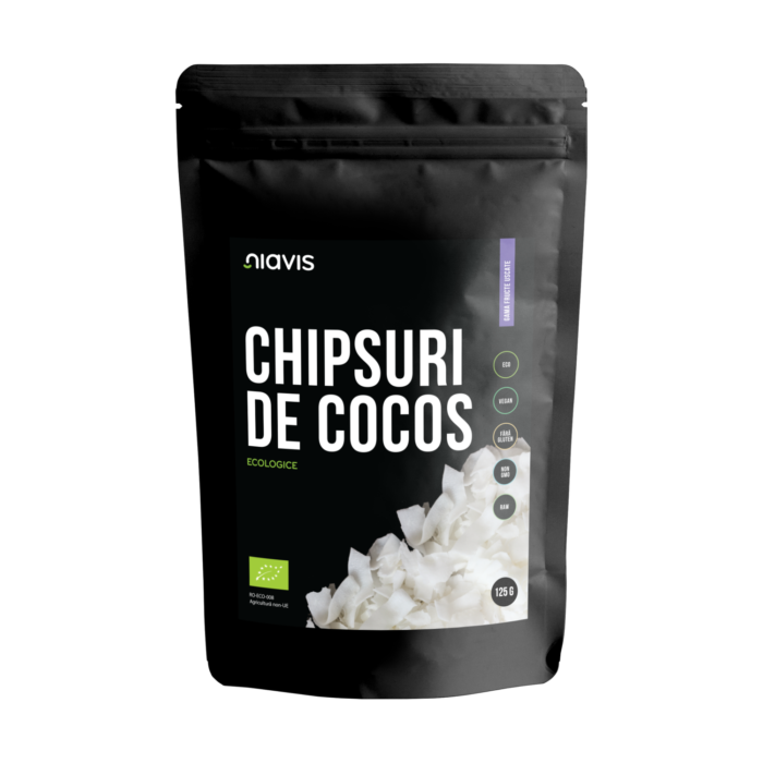 Chipsuri de Cocos RAW Ecologice 125g