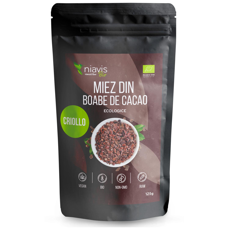 Miez din Boabe de Cacao Ecologice/BIO 125g