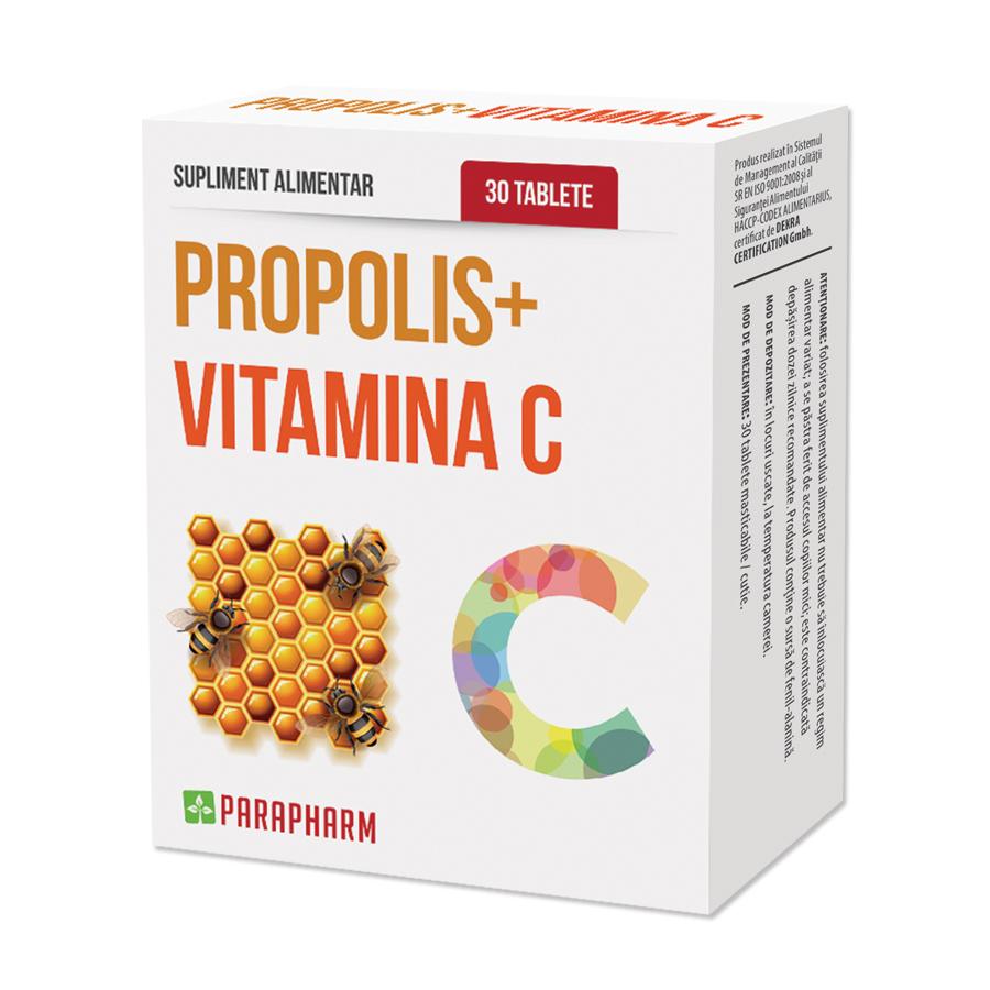 Propolis cu vitamina C 30 capsule - Quantum Pharm