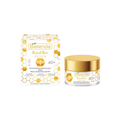 ROYAL BEE ELIXIR Crema de Fata Antirid Intensiv Hidratanta 40+ zi/noapte cu miere de Manuka 50 ml