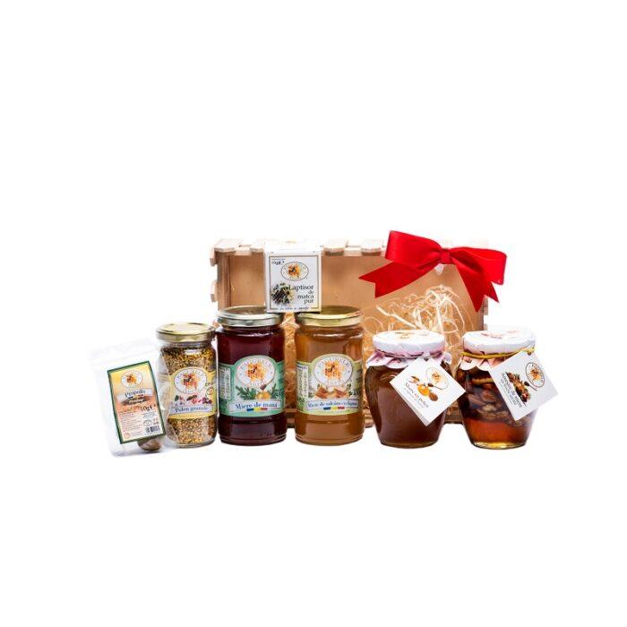 COS LADITA LEMN FAMILY + Produse Apicole Fagurele Auriu