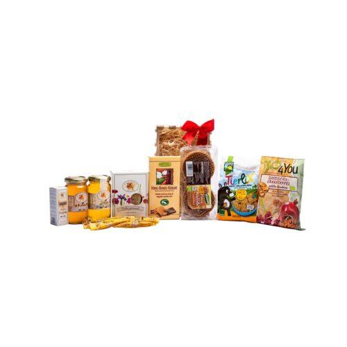 Cos gardulet mic pentru copii cu produse apicole