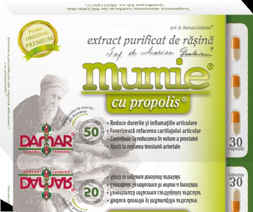Mumie extract purificat de rasina cu propolis 30 capsule