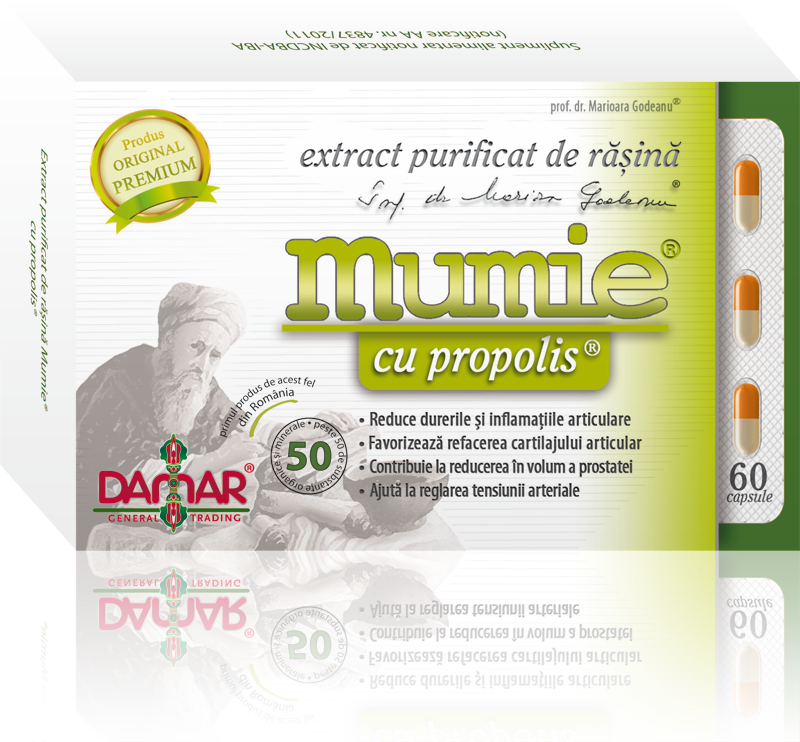 Mumie extract purificat de rasina cu propolis 60 comprimate